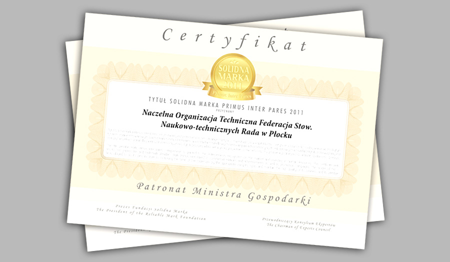 Dyplomy/Certyfikaty